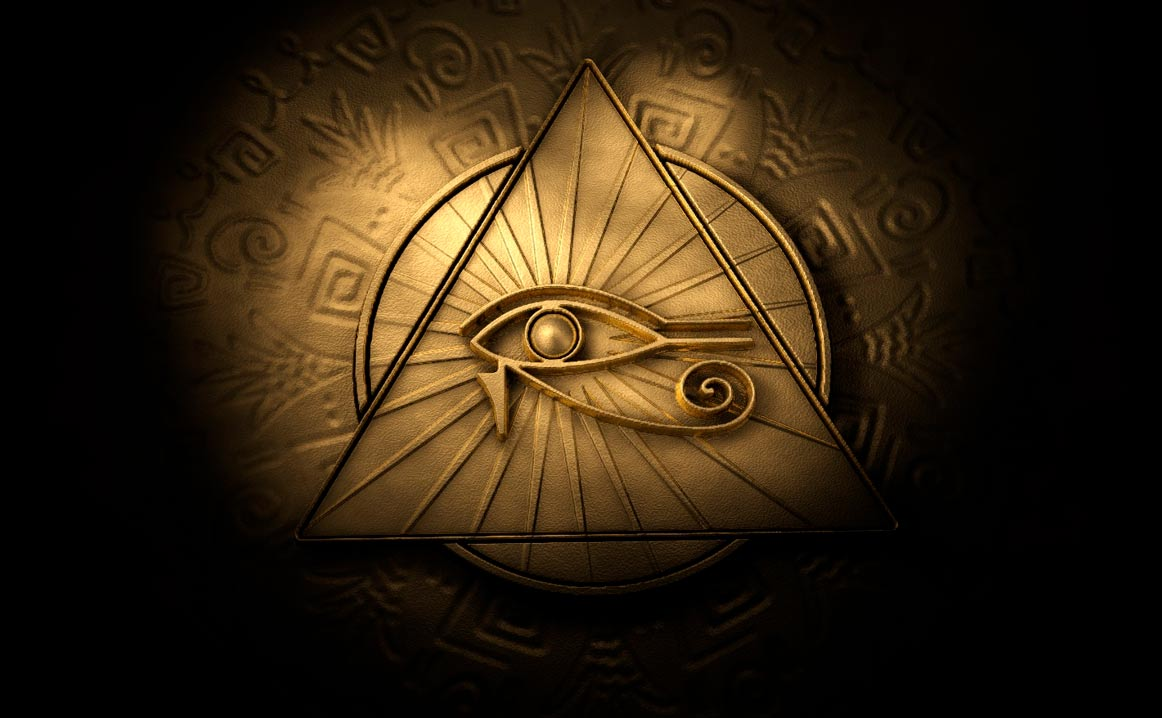eye of horus on pyramid