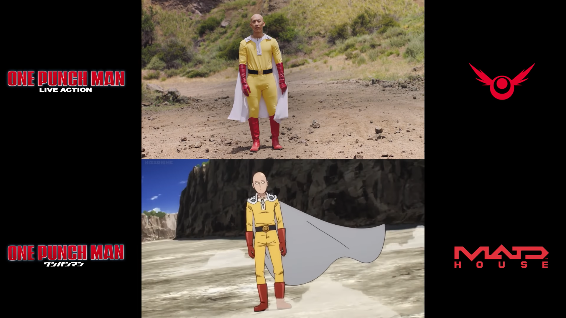 One Punch Man - Anime vs Live Action   RE:Anime Image'