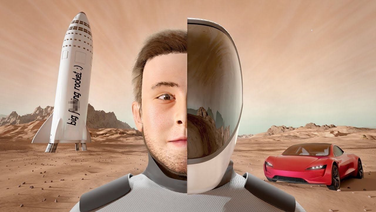 The Elon Musk Story - 3D Animated Image'