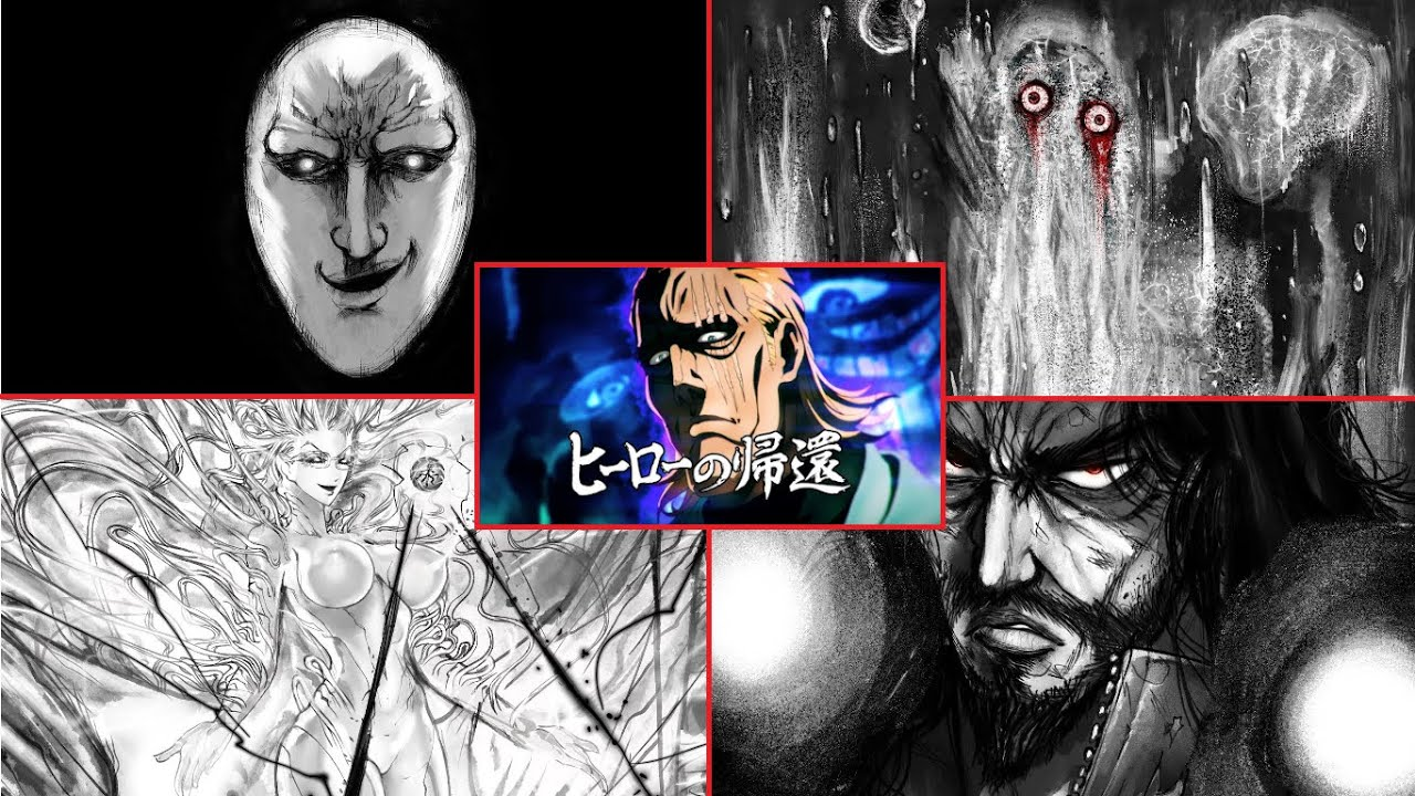 One Punch Man - King vs 4 Dragon level Monsters (WEBCOMIC) Image'