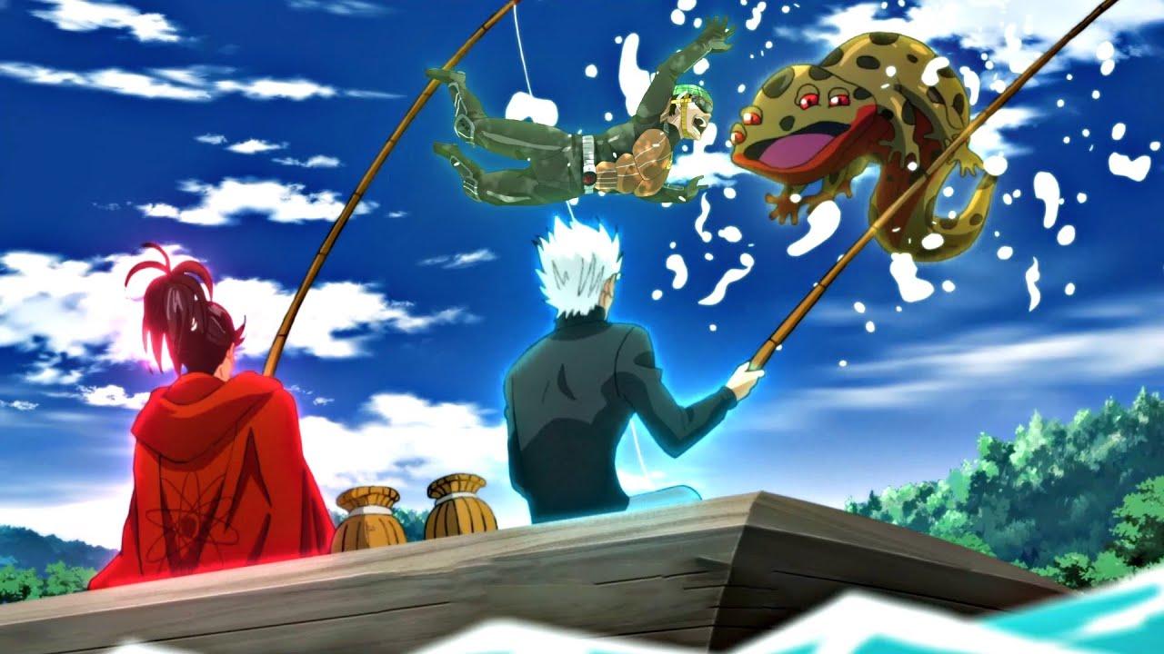 Mumen Rider Impresses Silverfang - Silverfang Tells Atomic Samurai About Saitama   One Punch Man OVA Image'