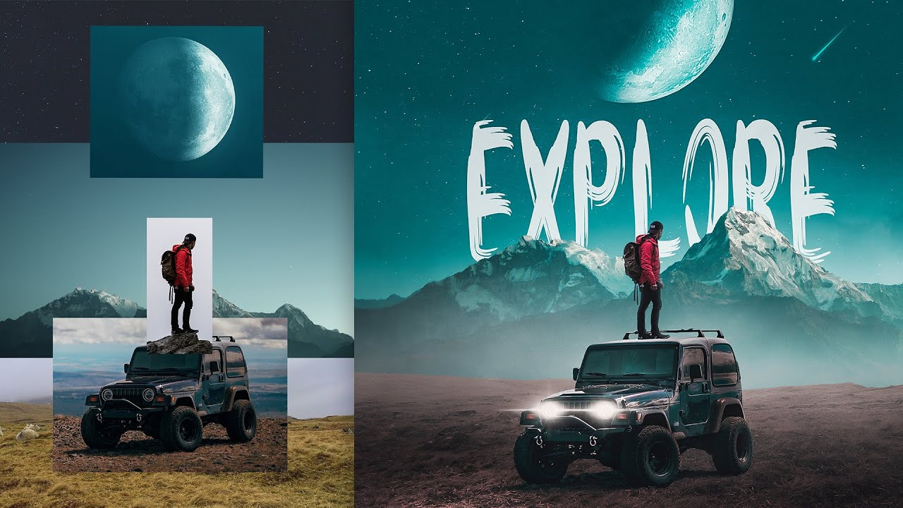 The Making of Photo-Manipulation: Explore | Photoshop Compositing Tutorial Image'